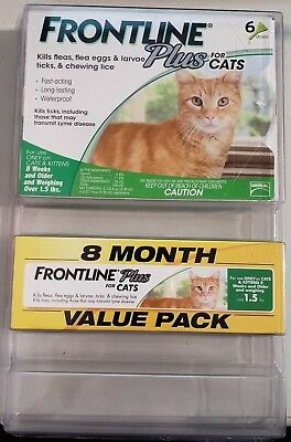 Frontline Plus for Cats - 8 Month Supply - NEW