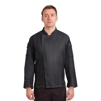 Chef Works Urban Gramercy Unisex Denim Chef Jacket Black XS