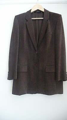 Marks And Spencer Vintage Chenille Brown Ladies' Blazer Size 12