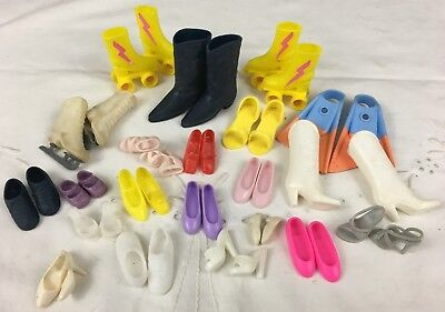 Vintage Lot of Barbie Doll Family Friends Clone Shoes Boots Skates Flippers BD24