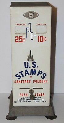 Vintage USPS Postage Stamp Machine Coin-Operated 25 & 10 Cent Vending Machine