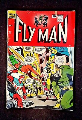 1965 Archie Serie Comics, The Fly Man, No 31 May, 12 Cent Cover, Low Mid Grade