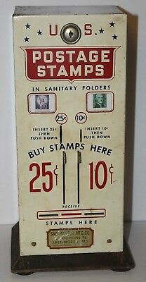 Sno Master USPS Postage Stamp Machine Coin-Operated 25 & 10 Cent Vending Machine