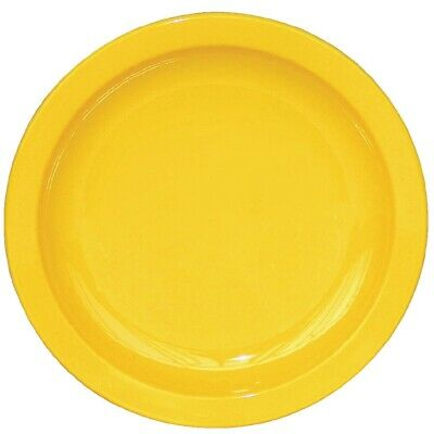 Kristallon Polycarbonate Plates Yellow 172mm (Pack of 12)