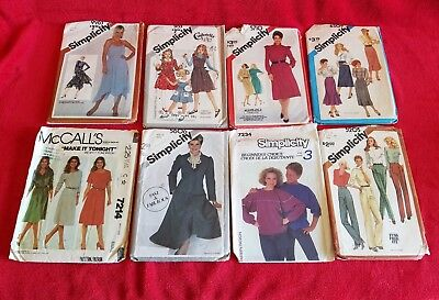 Vintage 80's Sewing Patterns Lot of 41 Simplicity McCall's Butterick Women Child