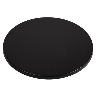 Werzalit Pre-drilled Round Table Top Black 800mm (Next working day UK Delivery)