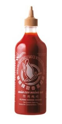 SRIRACHA Chilisauce mit extra KNOBLAUCH Scharf  730 ml  Flying Goose
