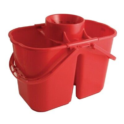 Jantex Colour Coded Twin Mop Buckets Red (Next working day UK Delivery)