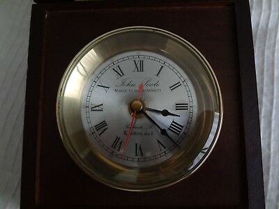 """John Poole """"Maker To The Admiralty-  Rare! Desk Clock - Free Shipping"""