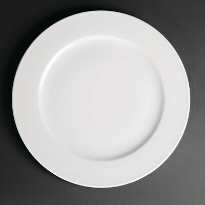 Royal Porcelain Classic White Wide Rim Plates 310mm (Pack of 12)
