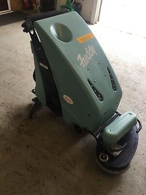 Freddy battery operated floor cleaning machine scrubber
