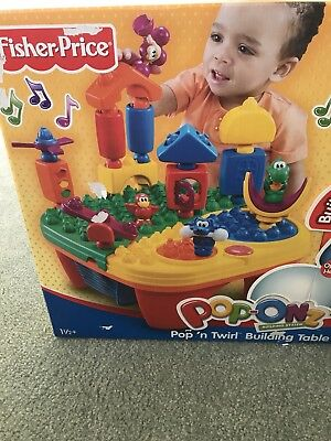 Fisher Price Pop & Twirl Building Table BNIB 12-18 Months Educational *Must See*