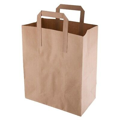 Recyclable Brown Paper Bags Medium (Pack of 250) (Next working day UK Delivery)