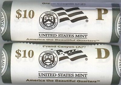 2010 ATB Grand Canyon National Park P & D Quarter Rolls - US Mint - KW025