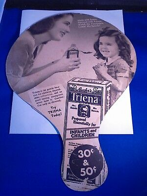 Vintage - Advertising - Hand Held Fan  - Rucker's Triena