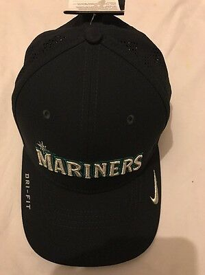 Men's Nike Navy Seattle Mariners Vapor Classic Swoosh Fitted Hat - New,L/XL