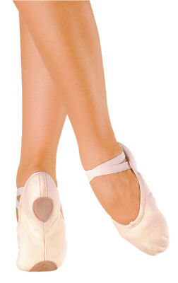 SO DANCA BA18 Canvas Ballet Shoes, Split Sole, Pink, Large Sizes (Adult), NIB
