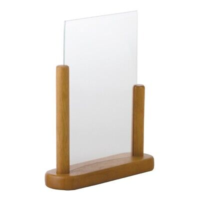 Securit Acrylic Menu Holder With Wooden Frame A5 (Next working day UK Delivery)