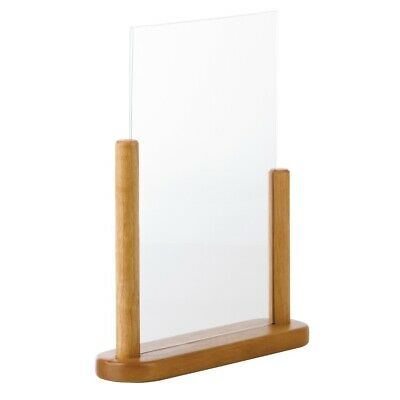 Securit Acrylic Menu Holder With Wooden Frame A4 (Next working day UK Delivery)