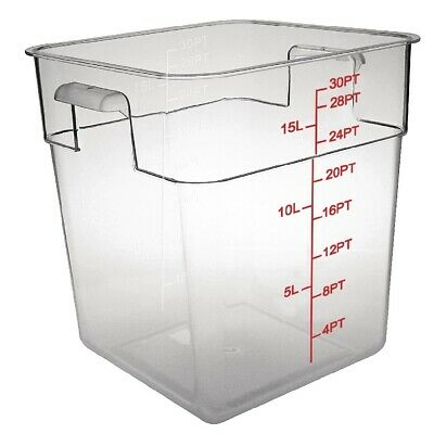 Vogue Polycarbonate Square Storage Container 15Ltr (Next working day to UK)