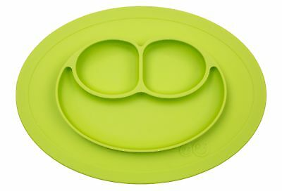 ezpz Mini Mat - One-piece silicone placemat + plate (Lime), One Size.