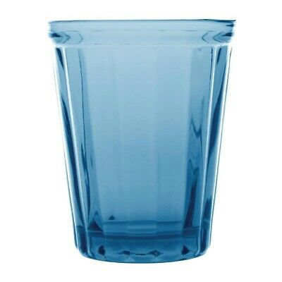 Olympia Cabot Panelled Glass Tumbler Blue 260ml (Pack of 6)
