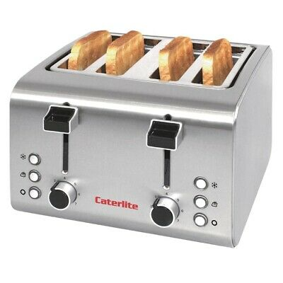 Caterlite 4 Slot Stainless Steel Toaster (Next working day UK Delivery)