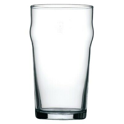 Arcoroc Nonic Nucleated Beer Glasses 570ml CE Marked (Pack of 48)