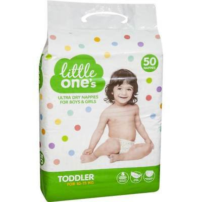 Little One's Ultra Dry Boys & Girl's Toddler Nappies 50 Pack