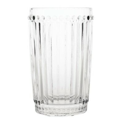 Olympia Baroque Glass Tumbler 395ml (Pack of 6) (Next working day UK Delivery)