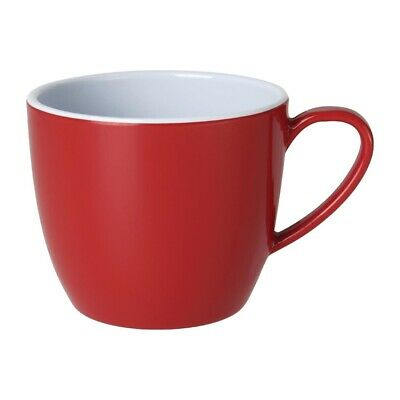Kristallon Gala Colour Rim Melamine Mug Red 285ml (Pack of 6)