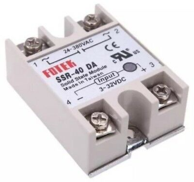 FOTEH Solid State Relay SSR-40DA 3-32VDC 40A Output 24-380VAC Module Contactor