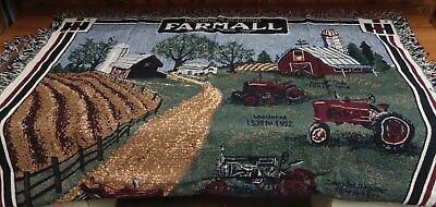 International Harvester sofa or couch throw - Case IH IHC CNH Farmall blanket