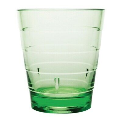 Kristallon Polycarbonate Ringed Tumbler Green 285ml (Pack of 6)