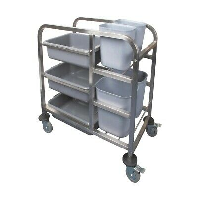Vogue Stainless Steel Bussing Trolley (Next working day UK Delivery)