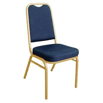 Bolero Squared Back Banquet Chair Blue (pack of 4) (Next working day to UK)