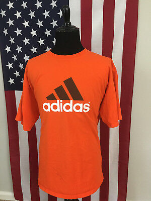d846d5453 VTG 90S ADIDAS Logo Orange T-Shirt men's Fit XL or 2XL Hip Hop made ...