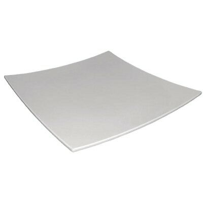 Curved Square Melamine Plate White 400mm (Next working day UK Delivery)