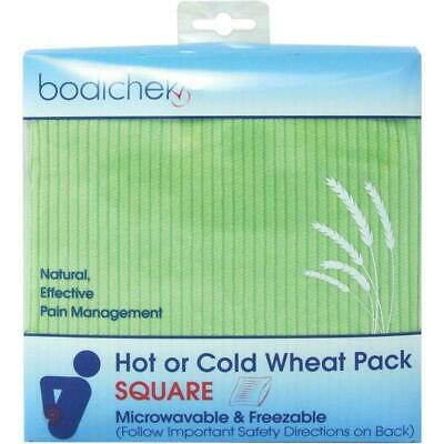 New Bodichek Hot or Cold Wheat Pack Square 26 x 26cm Assorted Colours