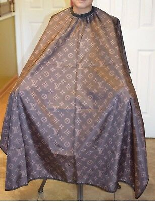 """Brown LV Barber hair cutting and styling cape 55""""X60"""""""