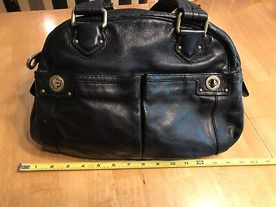 4435968fd226 Marc By Marc Jacobs Black Leather  Totally Turnlock  Bowler Bag Satchel  Purse