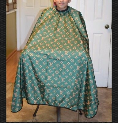 """Green LV Barber hair cutting and styling cape 55""""X60"""""""