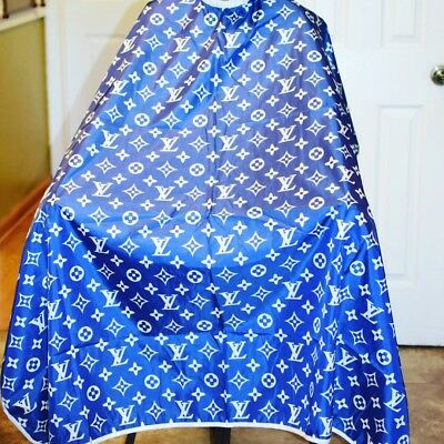 """Blue  LV Barber hair cutting and styling cape 55""""X60"""""""