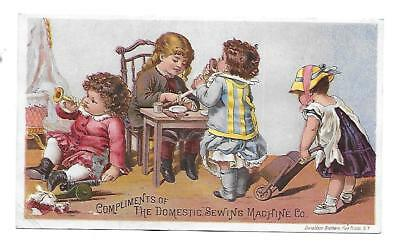1890's  Victorian Trade Card -Domestic  Sewing Machine Co.