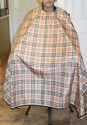"""Burberry  Barber hair cutting and styling cape 55""""X60"""""""