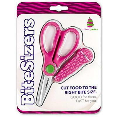BiteSizers Portable Food Scissors Cover - Certified Food-Safe By NSF, Stainless