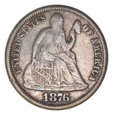 10c - CARSON CITY - 1876-CC Seated Liberty Dime *702