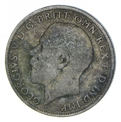 SILVER - Roughly Size of Half Dollar - 1921 Great Britain 1 Florin 11.1g *540