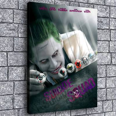 """12""""x16""""Suicide Squad Joker Painting HD Print on Canvas Home Decor Room Wall Art"""