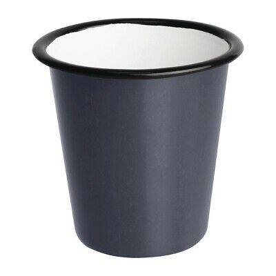 Olympia Enamel Tumbler Grey 310ml (Pack of 6) (Next working day UK Delivery)